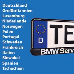 Kennzeichenhalter für Deutschland und viele EU-Länder