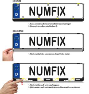 Montage Kennzeichenhalter numfix EU K