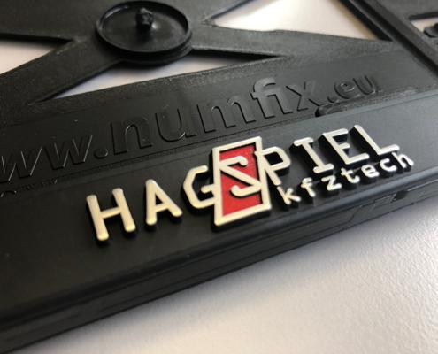 Kennzeichenhalter personalisiert