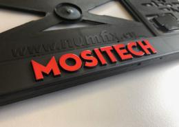 Kennzeichenhalter mit erhabener 3D-Schrift