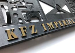3D-Schrift in gold