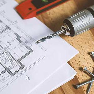 Kennzeichenhalter für Architektur und Bau
